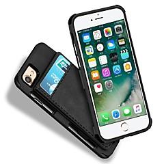 Недорогие Кейсы для iPhone 7-Кейс для Назначение Apple iPhone 7 Plus iPhone 7 Бумажник для карт Кошелек Защита от удара Кейс на заднюю панель Сплошной цвет Твердый