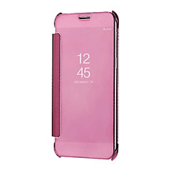 abordables Fundas / Carcasas para Galaxy Serie A7-Funda Para Samsung Galaxy A8 Plus 2018 / A8 2018 Espejo / Activación al abrir / Reposo al cerrar Funda de Cuerpo Entero Un Color Dura ordenador personal para A5(2018) / A7(2018) / A3 (2017)