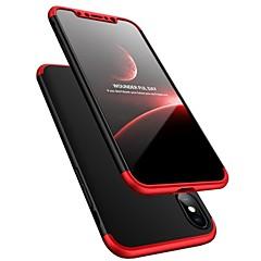 お買い得  iPhone 5S/SE ケース-ケース 用途 Apple iPhone X 耐衝撃 超薄型 フルボディーケース 純色 ハード プラスチック のために iPhone X iPhone 8 Plus iPhone 8 iPhone 7 Plus iPhone 7 iPhone 6s Plus iPhone