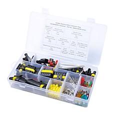 abordables Herramientas y Aparatos de Coche-14 sets 1/2/3/4/5/6 pines sellados de manera hermética, enchufe de conector de cable y fusibles de cuchillas de coche, caja de herramientas de coche 10/15 / 20amp