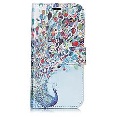 Недорогие Кейсы для iPhone-Кейс для Назначение Apple iPhone X iPhone 8 Plus Бумажник для карт Кошелек со стендом Флип С узором Чехол Животное Твердый Кожа PU для