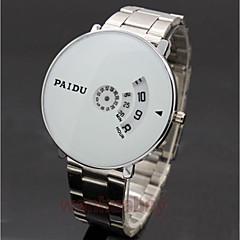 preiswerte Armbanduhren für Paare-Damen Paar Armbanduhren für den Alltag Modeuhr Kleideruhr Quartz Armbanduhren für den Alltag Legierung Band digital Luxus Freizeit Silber - Weiß Schwarz