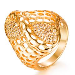 preiswerte Ringe-Damen Kubikzirkonia Bandring - vergoldet Modisch 7 / 8 / 9 Gold Für Hochzeit / Geschenk