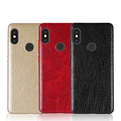 Недорогие Чехлы и кейсы для Xiaomi-Кейс для Назначение Xiaomi Redmi Note 5 Pro Redmi 5 Plus Рельефный Кейс на заднюю панель Однотонный Твердый Кожа PU для Xiaomi Redmi Note
