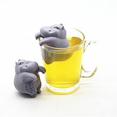 ieftine -Silicon Drăguț Hipopotan 1 buc Cafea si ceai / Strecurătoare Ceai