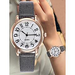 preiswerte Damenuhren-Damen Armbanduhr Chronograph Großes Ziffernblatt Leder Band Analog Luxus Mehrfarbig Schwarz / Weiß / Blau - Braun Rot Rosa Ein Jahr Batterielebensdauer