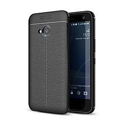 Недорогие Чехлы и кейсы для HTC-Кейс для Назначение HTC U11 Life Матовое Рельефный Кейс на заднюю панель Однотонный Мягкий ТПУ для HTC U11 Life