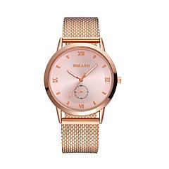 preiswerte Herrenuhren-Herrn Damen Quartz Modeuhr Chinesisch Armbanduhren für den Alltag Plastic Band Mehrfarbig Schwarz Silber Gold Rotgold