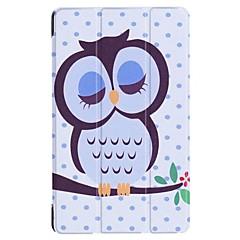 お買い得  タブレット用ケース-ケース 用途 Huawei MediaPad MediaPad T3 7.0 スタンド付き フルボディーケース ワード/文章 エッフェル塔 動物 ハード PUレザー のために Huawei MediaPad T3 7.0