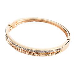 preiswerte Armbänder-Damen Kubikzirkonia Armreife - Zirkon Süß, Modisch Armbänder Gold / Schwarz / Silber Für Alltag Ausgehen