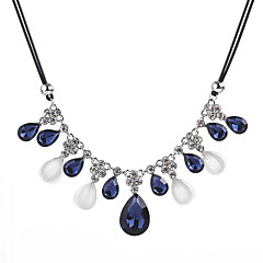 preiswerte Halsketten-Damen Opal / Kubikzirkonia Statement Ketten - Zirkon, Opal Tropfen Modisch Blau 50+5.5 cm Modische Halsketten Schmuck Für Formal, Ausgehen