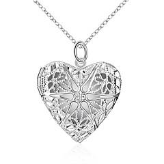 Недорогие Ожерелья-Муж. Жен. Ожерелья с подвесками - Сердце европейский, Мода, Светящийся Светящийся Серебряный 45 cm Ожерелье Бижутерия Назначение Повседневные