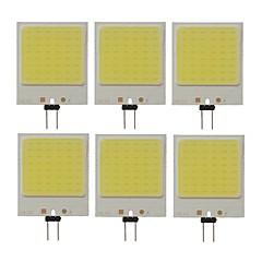 preiswerte LED-Birnen-SENCART 6pcs 10W 300lm G4 LED Doppel-Pin Leuchten T 48 LED-Perlen COB Dekorativ Kühles Weiß 12V / RoHs