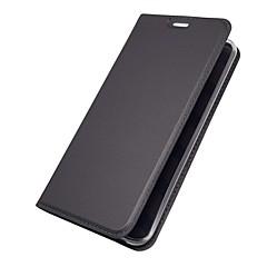 Недорогие Чехлы и кейсы для LG-Кейс для Назначение LG V30 Q6 Бумажник для карт со стендом Флип Магнитный Чехол Однотонный Твердый Кожа PU для LG V30 LG V20 LG Q6 LG G6