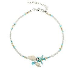 abordables Brazaletes-Mujer Pulseras del filamento - Casual Étnico Estrella de mar Azul Claro Pulseras y Brazaletes Para Regalo Diario