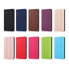 お買い得  タブレット用ケース-ケース 用途 Huawei MediaPad MediaPad M5 10 折りたたみ式 フルボディーケース ソリッド ハード PUレザー のために MediaPad M5 10
