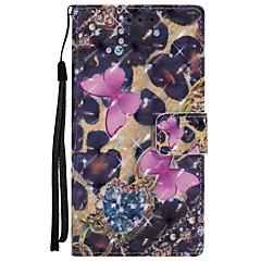 Недорогие Чехлы и кейсы для Sony-Кейс для Назначение Sony Xperia XZ Xperia XA1 Бумажник для карт Кошелек со стендом Флип Магнитный Чехол Бабочка Твердый Кожа PU для Sony