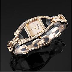 preiswerte Damenuhren-ASJ Damen Quartz Armband-Uhr Japanisch Armbanduhren für den Alltag Legierung Band Luxus Elegant Silber Gold