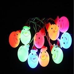 preiswerte LED Lichtstreifen-1.5 Leuchtgirlanden 10 LEDs Mehrere Farben Dekorativ AA-Batterien angetrieben 1pc