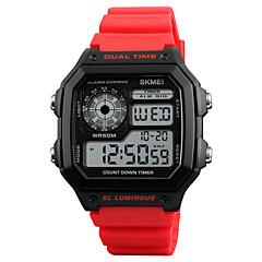 お買い得  メンズ腕時計-SKMEI 男性用 デジタル デジタルウォッチ アラーム カレンダー 耐水 カジュアルウォッチ ラバー バンド カジュアル クール レッド
