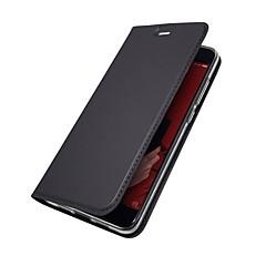 Недорогие Чехлы и кейсы для Xiaomi-Кейс для Назначение Xiaomi Mi 6 Mi 5X Бумажник для карт со стендом Флип Магнитный Чехол Однотонный Твердый Кожа PU для Redmi Note 5A