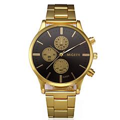 お買い得  メンズ腕時計-男性用 ドレスウォッチ 中国 大きめ文字盤 合金 バンド バングル / ミニマリスト ゴールド