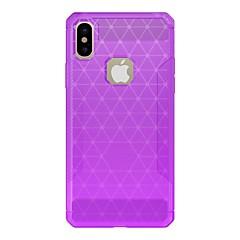 Недорогие Кейсы для iPhone X-Кейс для Назначение Apple iPhone X / iPhone 8 Матовое / броня Кейс на заднюю панель Однотонный / броня Твердый Углеродное волокно для