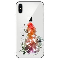 Недорогие Кейсы для iPhone 7 Plus-Кейс для Назначение Apple iPhone X iPhone 8 Прозрачный С узором Кейс на заднюю панель Соблазнительная девушка Мягкий ТПУ для iPhone X