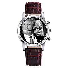 お買い得  メンズ腕時計-男性用 ドレスウォッチ 中国 クロノグラフ付き PU バンド カジュアル ブラック / 白 / レッド