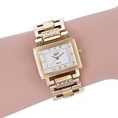 preiswerte Damenuhren-ASJ Damen Quartz Armband-Uhr Japanisch Armbanduhren für den Alltag Legierung Band Luxus Modisch Weiß Gold