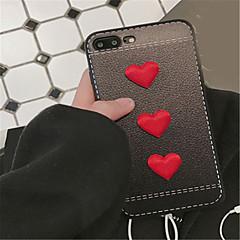 Недорогие Кейсы для iPhone-Кейс для Назначение Apple iPhone 6 Plus iPhone 7 Plus С узором Кейс на заднюю панель С сердцем Мягкий ТПУ для iPhone 7 Plus iPhone 7
