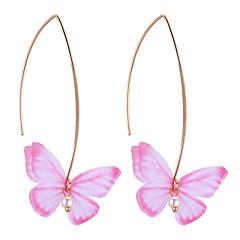 preiswerte Ohrringe-Tropfen-Ohrringe - Schmetterling Europäisch, Süß, Modisch Violett / Rot / Hellblau Für Party / Party / Abend