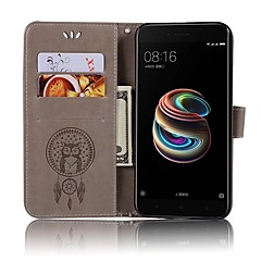 Недорогие Чехлы и кейсы для Xiaomi-Кейс для Назначение Xiaomi Mi 6 Mi 5s Бумажник для карт Кошелек Флип Чехол Сова Твердый Кожа PU для Xiaomi Mi 6 Xiaomi Mi 5X Xiaomi Mi 5s