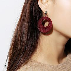 abordables Bijoux pour Femme-Femme Géométrique Boucles d'oreille goutte - Fourrure Coréen, Mode Marron / Rose / Vin Pour Fête / Soirée Cadeau Fête scolaire