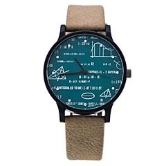preiswerte Herrenuhren-Herrn Damen Quartz Einzigartige kreative Uhr Kleideruhr Modeuhr Chinesisch Imitation Diamant Armbanduhren für den Alltag PU Band Freizeit