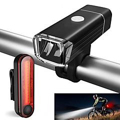 abordables Luces para bicicleta-Luz Frontal para Bicicleta / Luz Trasera para Bicicleta / Juego de luces recargables para bicicleta LED Luces para bicicleta Ciclismo Impermeable, Portátil Li-ion 500 lm Ciclismo