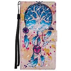 Недорогие Чехлы и кейсы для Sony-Кейс для Назначение Sony Xperia XZ Xperia XA1 Бумажник для карт Кошелек со стендом Флип Магнитный Чехол Ловец снов Твердый Кожа PU для