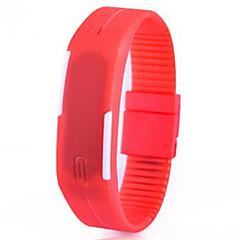 preiswerte Armbanduhren für Paare-Paar Armband-Uhr digital 30 m Caucho Band digital Modisch Elegant Schwarz / Weiß / Blau - Hellblau Blatt Zitronengelb