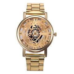 preiswerte Herrenuhren-Herrn Quartz Kleideruhr Chinesisch Chronograph Edelstahl Band Freizeit Gold
