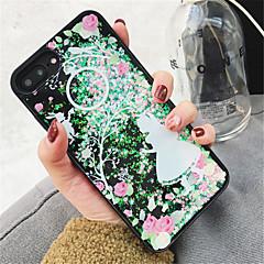 Недорогие Кейсы для iPhone 7 Plus-Кейс для Назначение Apple iPhone X iPhone 7 Plus Движущаяся жидкость С узором Кейс на заднюю панель Сияние и блеск Твердый ПК для iPhone