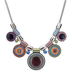 preiswerte Halsketten-Damen Kubikzirkonia Halsketten - Zirkon, Harz Retro, Böhmische, Boho Regenbogen, Rose Rot 44 cm Modische Halsketten Für Party, Ausgehen