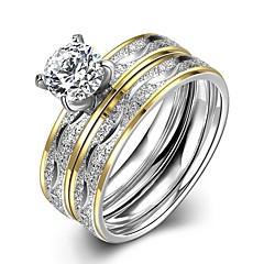 お買い得  指輪-男性用 リングセット - ステンレス 6 / 7 / 8 ゴールド 用途 日常 / ストリート