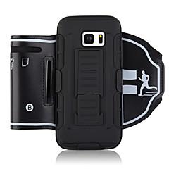 Недорогие Универсальные чехлы и сумочки-Кейс для Назначение Apple S7 edge S7 Спортивныеповязки Бумажник для карт Защита от удара С ремешком на руку Однотонный Мягкий ПК для S7