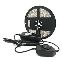 お買い得  LED ストリングライト-ZDM® 5m ライトセット 300 LED 5050 SMD 1 x 12V 3Aアダプタ / 1×調光スイッチ 温白色 / クールホワイト / レッド カット可能 / ノンテープ・タイプ 12 V 1セット