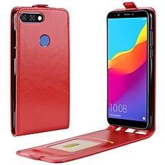 Недорогие Чехлы и кейсы для Huawei серии Y-Кейс для Назначение Huawei Y9 (2018)(Enjoy 8 Plus) Honor 9 Lite Бумажник для карт Флип Чехол Однотонный Твердый Кожа PU для Huawei Honor
