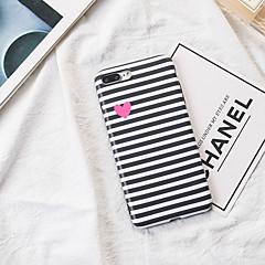 Недорогие Кейсы для iPhone 7 Plus-Кейс для Назначение Apple iPhone X iPhone 8 С узором Кейс на заднюю панель Полосы / волосы С сердцем Мягкий ТПУ для iPhone X iPhone 8