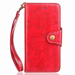 Недорогие Чехлы и кейсы для Galaxy Note 5-Кейс для Назначение SSamsung Galaxy Note 8 Note 5 Бумажник для карт Кошелек со стендом Флип Магнитный Чехол Однотонный Твердый Кожа PU для