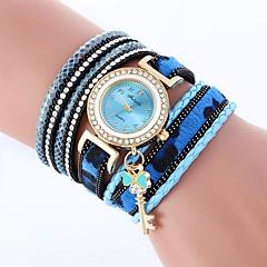 お買い得  レディース腕時計-女性用 ファッションウォッチ クォーツ カジュアルウォッチ 模造ダイヤモンド PU バンド ハンズ カジュアル ボヘミアンスタイル ブラック / 白 / ブルー - Brown レッド ブルー 1年間 電池寿命