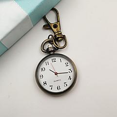 preiswerte Damenuhren-Damen Taschenuhr Uhr mit Schlüsselanhänger Quartz Armbanduhren für den Alltag Legierung Band Analog Retro Modisch Minimalistisch Silber - Silber Bronze Ein Jahr Batterielebensdauer / Tianqiu 377