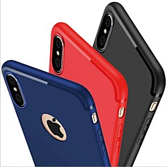 billige iPhone-etuier-Etui Til Apple iPhone X iPhone 8 iPhone 6 iPhone 7 Plus iPhone 7 Syrematteret Bagcover Helfarve Blødt Silikone for iPhone X iPhone 8 Plus